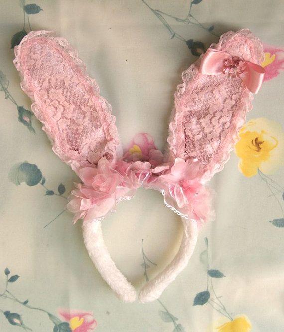 Cute Bunny ears headband, Fantasy hair accessory by SpiritKawaii