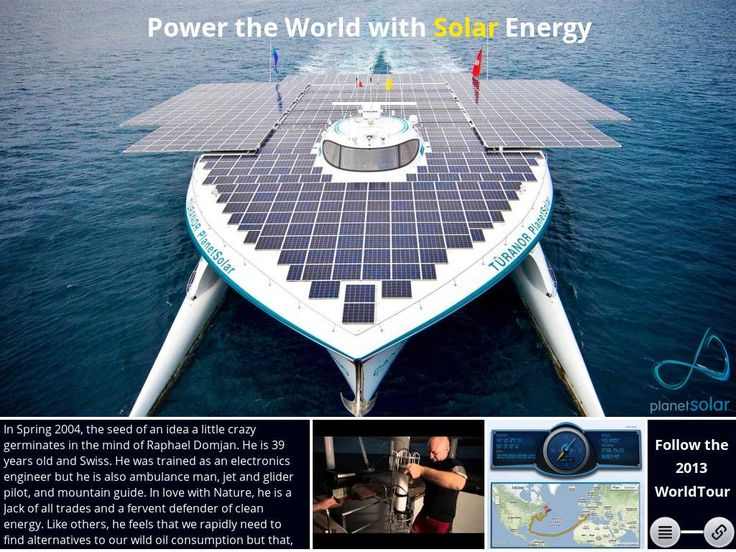Planet Solar Boat  - Created on Tactilize