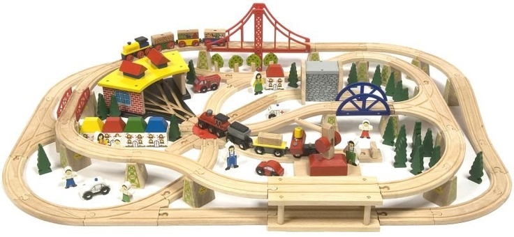 train track layout-- cannot *wait* to play on Christmas morning!!!!