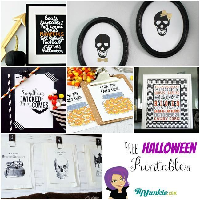 16 best free printable halloween decorations images on pinterest holidays halloween. Black Bedroom Furniture Sets. Home Design Ideas