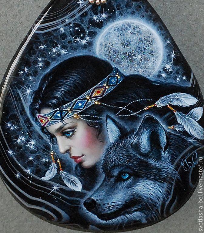 Колье, бусы ручной работы. Ярмарка Мастеров - ручная работа Бегущая с волками... Handmade.
