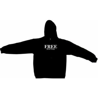 Free Breast Exams Mens Hoodie Sweat Shirt Small thru 4XL