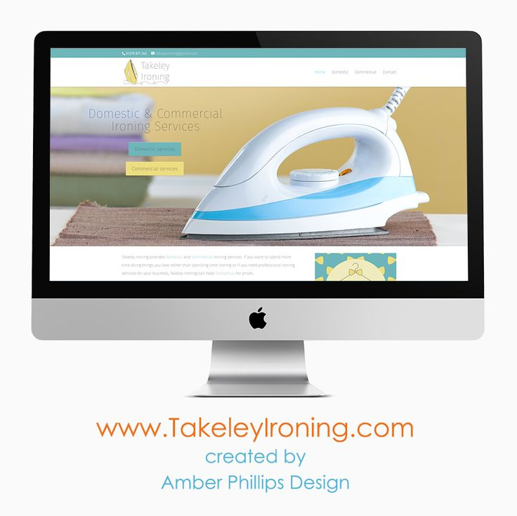 Takeley Ironing website design by www.AmberPhillipsDesign.co.uk