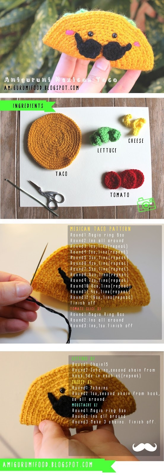 TACO MEXICANO - Amigurumi Food