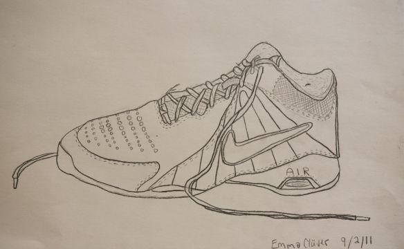 Contour Line Drawing Of A Shoe : Contour line drawing shoe contours drawings and art lessons