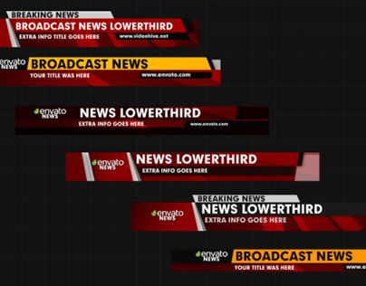 "Check out new work on my @Behance portfolio: ""News Lower Thirds"" http://be.net/gallery/45236435/News-Lower-Thirds"