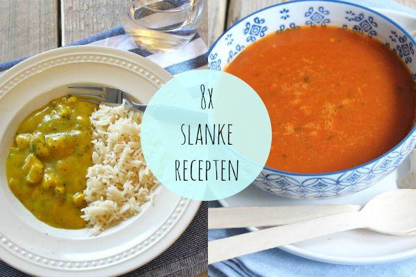 Om jullie een handje op weg te helpen, hebben wij acht slanke recepten op een rijtje gezet. Ook als je niet op je dieet bent, zijn het lekkere recepten!