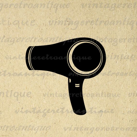 Digital Blow Dryer Graphic Image Blowdrier Download Hair Dresser Salon Barber Printable Antique Clip Art. High resolution digital illustration from vintage artwork for printing, iron on transfers, papercrafts, tote bags, pillows, and more. For personal or commercial use. This graphic is high quality and high resolution at size 8½ x 11 inches. Transparent background version included with all images.