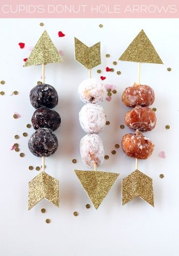 Cupid Donut Hole Arrows by Tan from Squirrelly Minds #papercraft