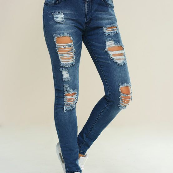 Pocket Design Ripped Pencil Jeans  $60.00    Material: Jeans  Length: Normal  Wash: Destroy Wash  Fit Type: Skinny  Weight: 0.450kg  Package Contents: 1 x Jeans  Customers Disclaimer  About the Front Buttonhole: Please note that some of our jeans/pants products have closed buttonholes located at the front. Customers are kindly reminded that they will need to open the buttonhole carefully using small sharp scissors to unpick the stitches.
