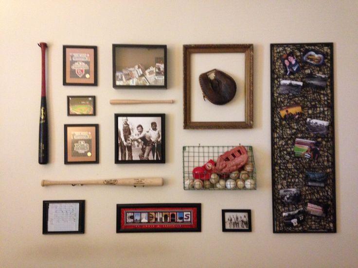 Baseball collage. Wall art.