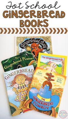 5 Fabulous Gingerbread stories perfect for tot school, preschool, or kindergarten!