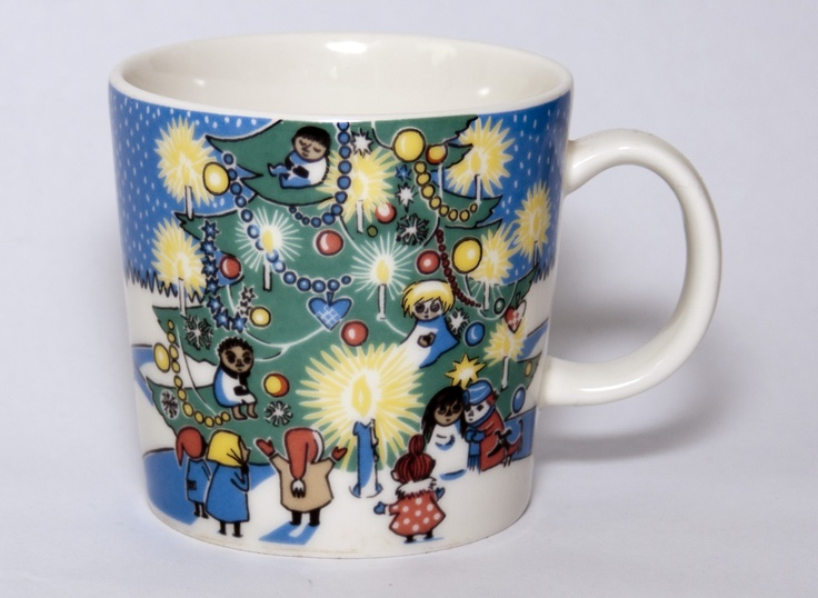 "Moomin mug ""Christmas"". Rare edition sold in 2004 and 2005. Mug nr. 28"