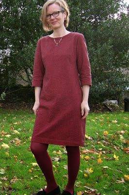 The Redwood Camber Dress by Merchant and Mills from Roobeedoo | we have some wine coloured linen that would do this nicely...