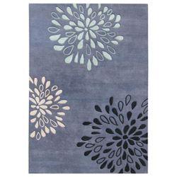 Handmade Metro Diamond Moon Light Blue Wool Rug (8' x 10') overstock