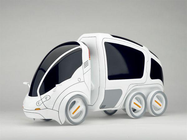 CITI.TRANSMITTER - ultracompacto desenhado pela Yanko Design. Conceito ultracompacto é 4 (quatro) vezes menor do que um carro convencional. Foto: Divulgação / Yanko Design.