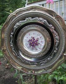 Mosaic silver garden flower