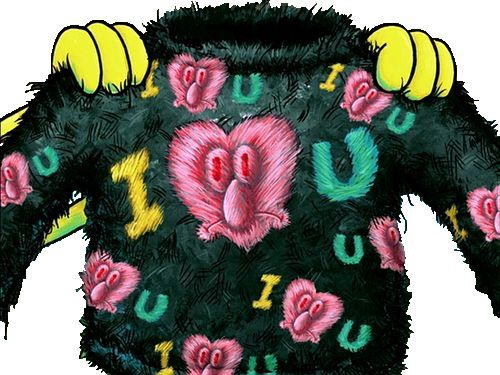 I made you this sweater out of eyelashes.