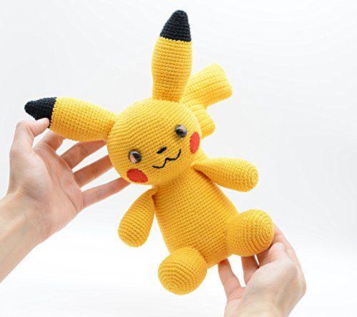 Plush Pikachu, yellow crochet gift, stuffed Pokemon toy C... https://www.amazon.co.uk/dp/B07262L5KP/ref=cm_sw_r_pi_dp_x_Ghs2zb8MXBPN3