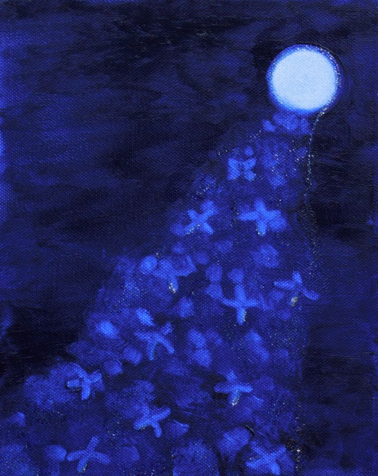Blessing. Oil on canvas.  The moon gives us gifts of magic x