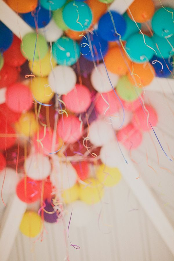 bright and colorful balloons {the perfect party addition}