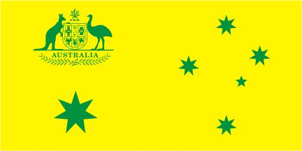 Australian Flag Proposal _ Green and Gold with Coat of Arms of Australia (2015) Designer Unknown