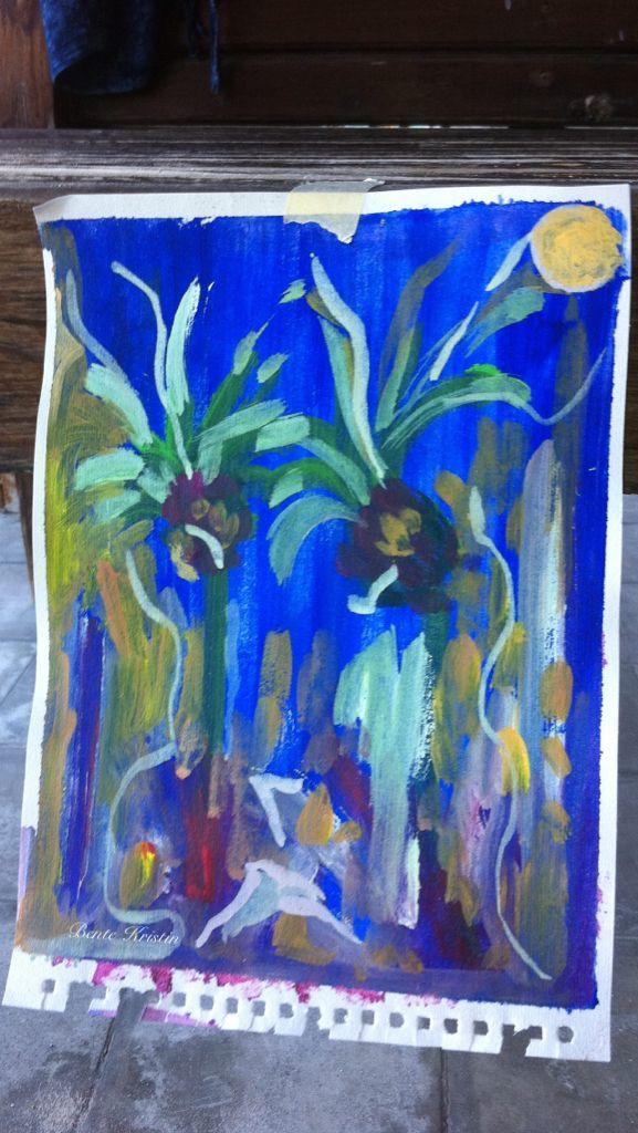 """Jungle night"" Bali Acrylic Bente Kristin B Skulstad  2011"