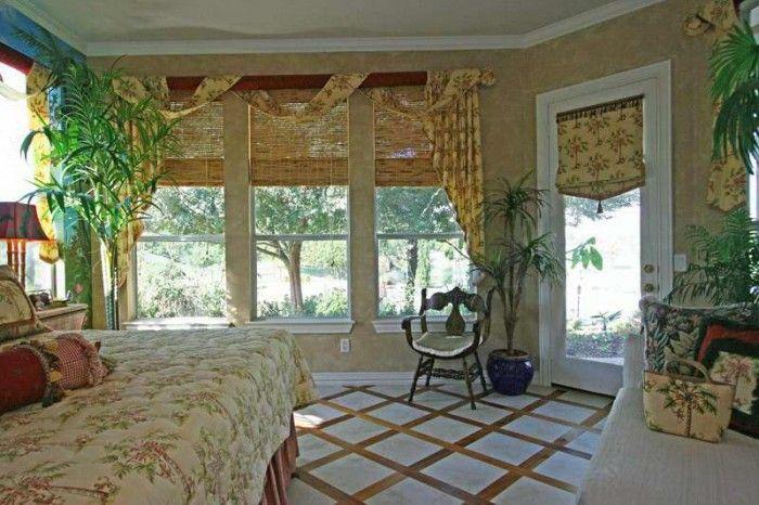tropical window panel | Nautical Curtain Valance (Beach House) beach decor tropical valances