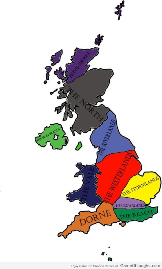 UK re-imagined as Westeros - Game Of Thrones Memes