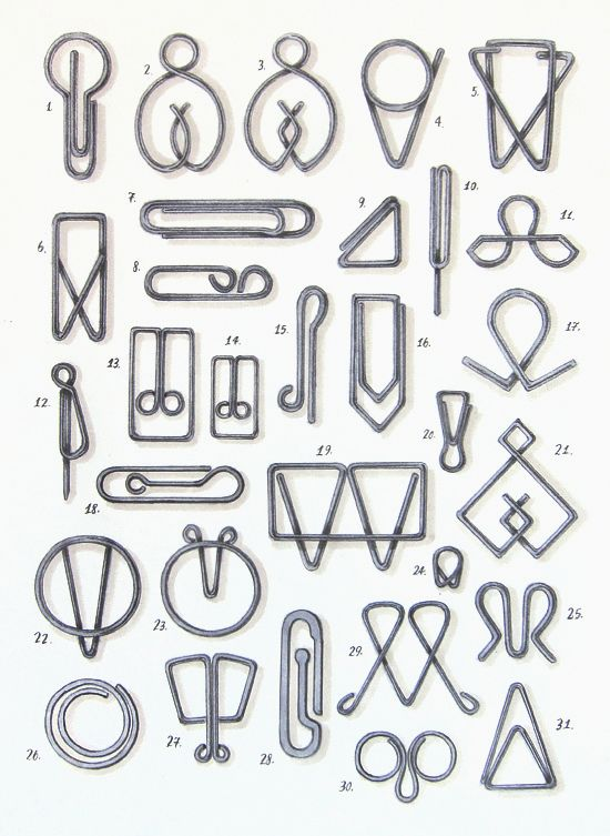paper clip designs by Mrs. Easton http://melissaeastondesign.com/blog/?p=7429