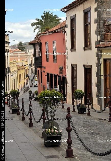 Calle en La Orotava Tenerife, Islas Canarias ,España