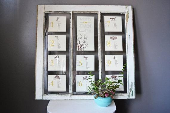Custom Vintage Window Wedding Seating Chart by ThistleAndBellWed, $0.20