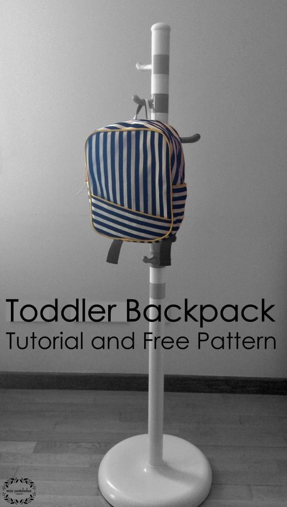 Toddler Backpack Tutorial and Free Sewing Pattern