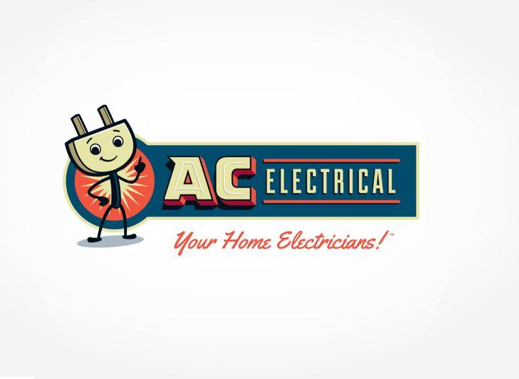AC Electrical - Retro logo for an electric company. #Retro ...