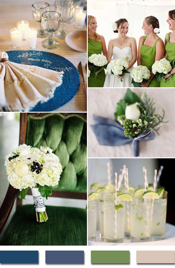 2015 trends royal blue and kelly green wedding color palettes #weddingcolorideas #elegantweddinginvites
