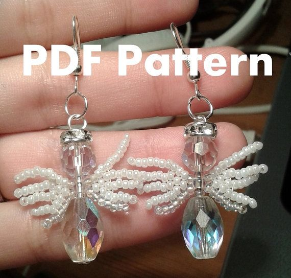 PDF-file Beading Pattern Angels with Wings door HoneyBeads1Official