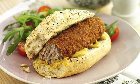 Broodje kroket sandwich. Dutch croquettes on a roll. I've always wanted to know how to make these croquettes.
