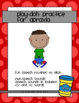 FREEBIE!!!  Assemble a play-doh kit with everyday items and use these speech routines to elicit early sounds and words. SO great to have at your fingertips!