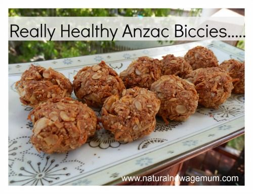 Really Healthy ANZAC Biccies. Australia's favourite biscuit - dairy free, gluten free and egg free.