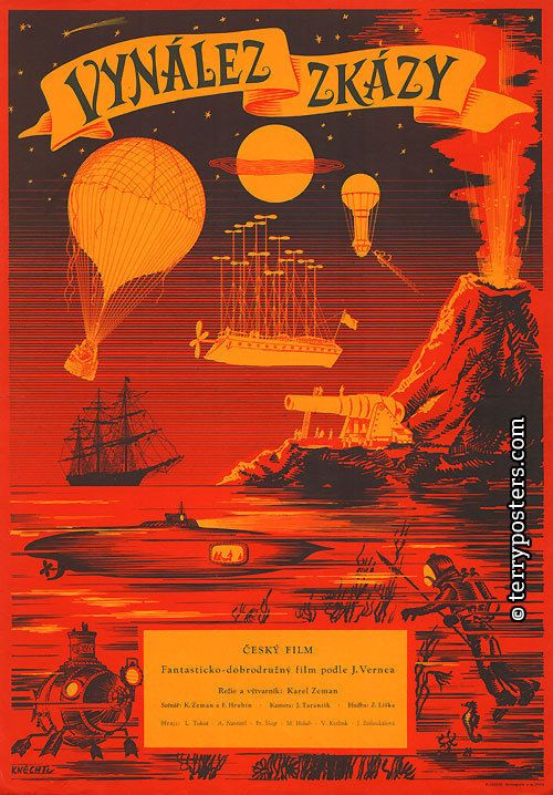 The Fabulous World of Jules Verne (Karel Zeman, 1958) Czech design by Karel Knechtl