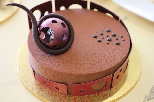 Alessandro's apricot and chocolate cake with a passionfruit cremeaux, apricot…