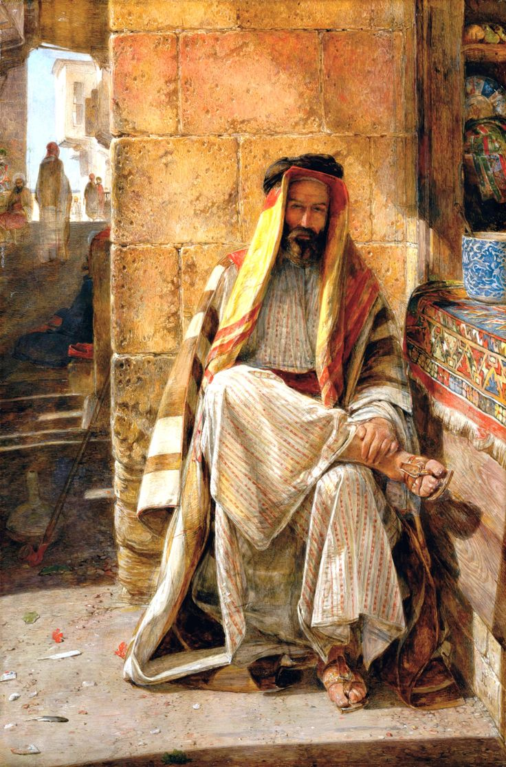 An Arab of the Desert of Sinai by John Frederick Lewis (British, 1804 - 1876)