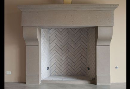 Image detail for -CONCRETE FIREPLACE SURROUND FPS28. Love!  Fireplace. Stone mantel traditional french country