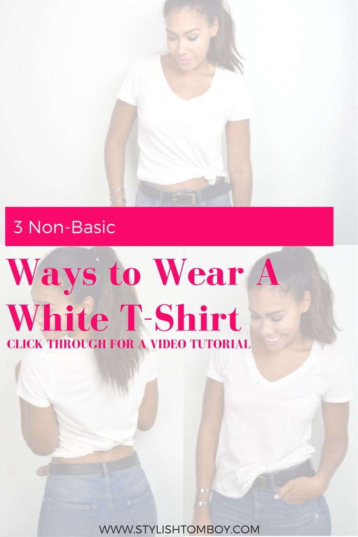 The plain white t-shirt doesn't have to be so plain. Click through to see my 3 favorite ways to make a white t-shirt more fun! And I've included a video tutorial for you, so click through or save this pin for later!