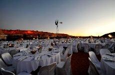 A wedding reception under a canopy of stars near Alice Springs.