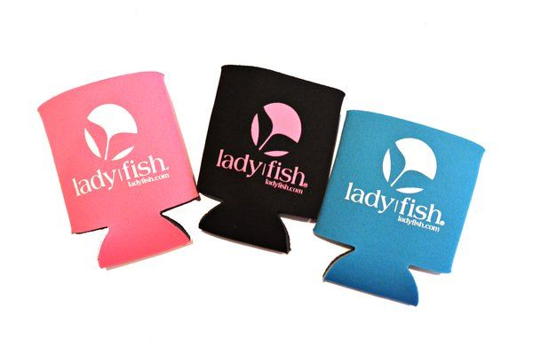 Ladies Fishing Koozie, Women's Fishing Cup Holder, fishing, women   Women's Fishing Gear & Clothing   Ladies Fishing Shirts   UPF50