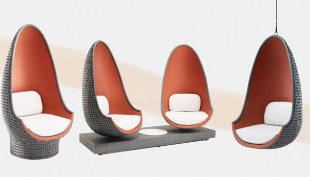 Play Collection by Philippe Starck for Dedon [could have a phillipe starck hanging chair with indian vabric/cushions