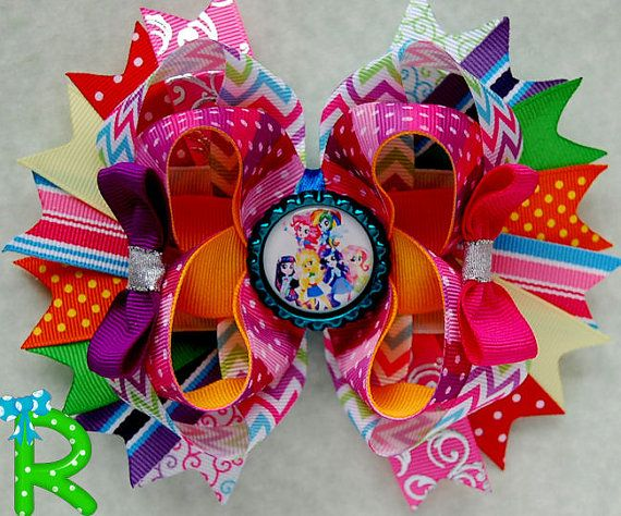 Hey, I found this really awesome Etsy listing at https://www.etsy.com/listing/217722522/equestria-girls-hair-bow-my-little-pony