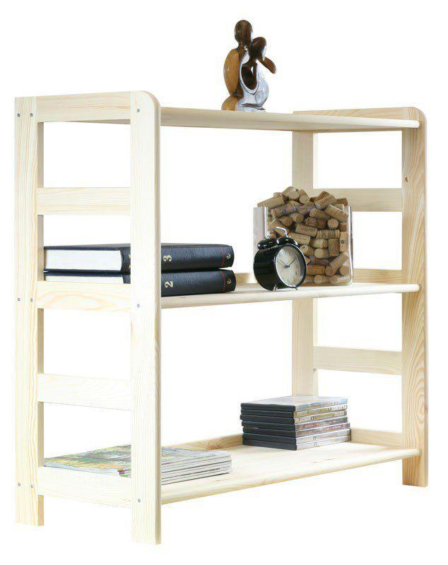 Regały do pokoju R-02 sosna 89x83x33 - Regały biurowe - Regały drewniane