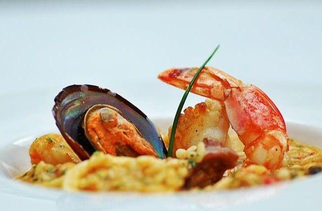 Risoto de frutos do mar com rouille